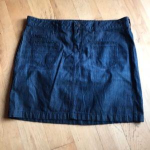 Old Navy dark denim skirt
